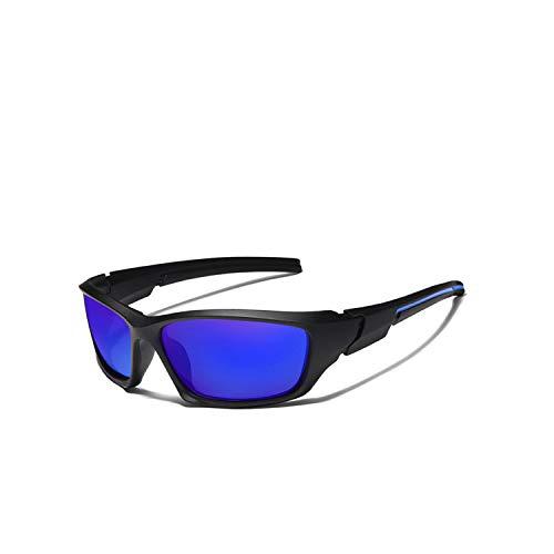 Sportbrillen, Angeln Golfbrille,Brand NEW Men's Polarisiert Sunglasses TR90 Frame Night Vision Mirror Eyewear Sun Glasses Men Goggle Lunette De Soleil C03 Blue