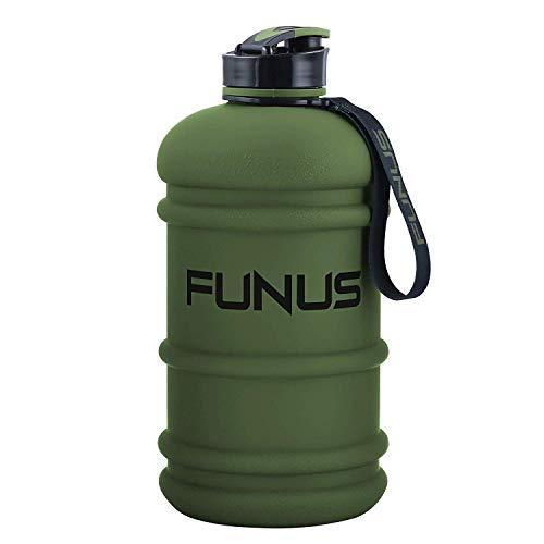 SOCOO Trinkflasche Sport 2,2L Bottle BPA frei Wasser Flasche, Sportflasche, Schule, Fahrrad (Armee Grün)