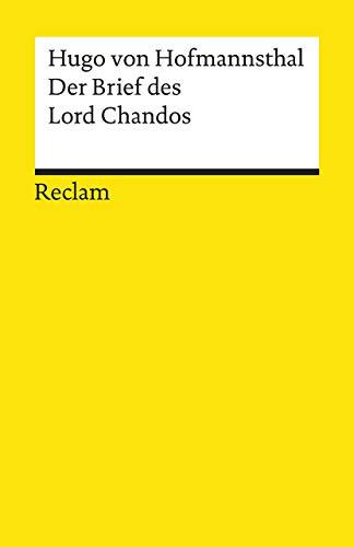 Der Brief des Lord Chandos (Reclams Universal-Bibliothek)