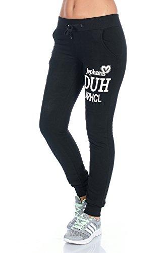 Damen Jogginghose Freizeit Traing Sweathose Flecce Futter 8 Modelle Schwarz Grau Fashionshine24 Schwarz 17113