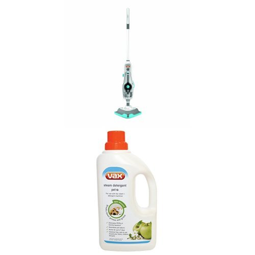 Vax 15-in-1 Steam Fresh Combi Steam Cleaner S86-SF-C and Pet steam detergent bundle
