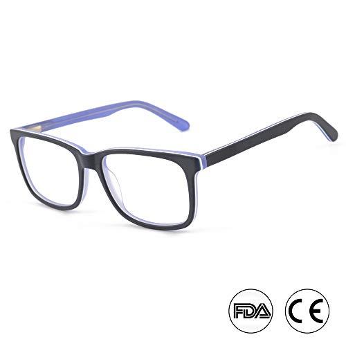 Blaulichtfilter Brille - Computerbrillen für tiefen Schlaf - Digital Augenmüdigkeit Schutz(A15653C6 SCHWARZ/WEISS/LILA)