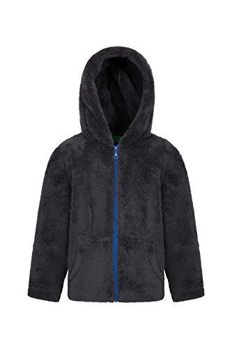 Mountain Warehouse Yeti Kinder-Fleece-Jacke mit durchgängigem Reißverschluss - Leichter, Pflegeleichter, Warmer und kuschliger Pullover - Kinderkleidung für den Winter Grau 140 (9-10 Jahre)