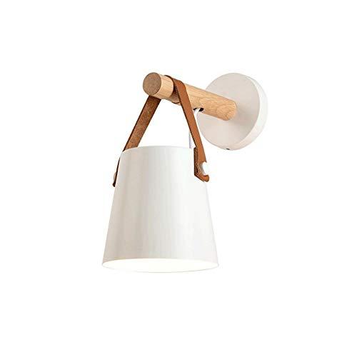 MAKKC Nordic parete in legno massello sconce moderno minimalista led in ferro battuto soggiorno studio camera da letto lampada da parete creativo corridoio scale scialo applique da parete per soggiorn