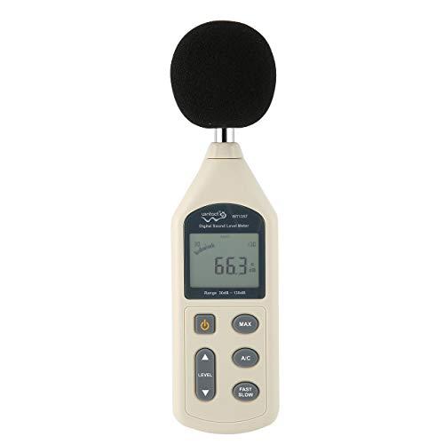 Jasnyfall WINTACT WT1357 Digitales Schallpegelmessgerät Geräuschmessgerät Dezibel Messung weiß