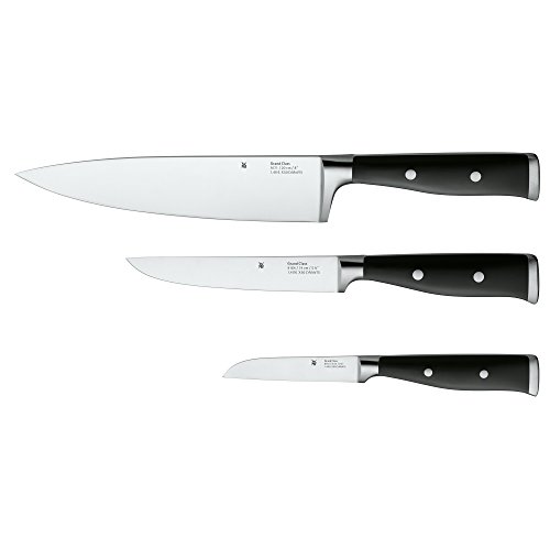 WMF Messerset 3-teilig Grand Class Performance Cut Made in Germany geschmiedeter Spezialklingenstahl Edelstahl-Nieten Griffe aus Kunststoff