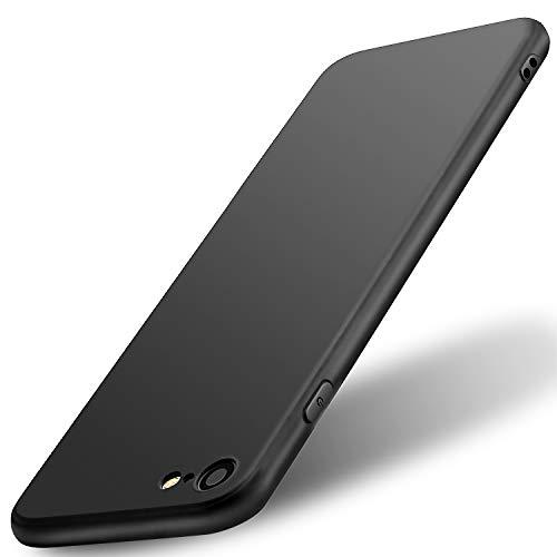 wsiiroon Hülle für iPhone 7 iPhone 8, iPhone 8 iPhone 7 Handyhülle Ultra - Dünn Soft Flex Silikon Schutzhülle-Anti-Rutsch, Anti-Scratch TPU Case für iPhone 7 / iPhone 8 4.7 Zoll (Schwarz) -