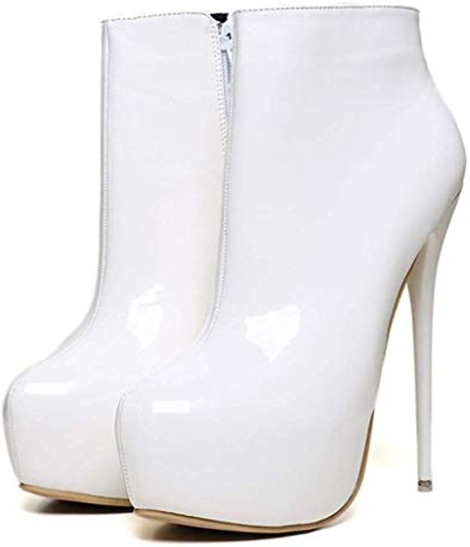 ZHRUI Bottines à à Bottines Talons Hauts pour Femmes, Chaussures Haut de Gamme (coloré : Blanc, Taille : 46EU) dd5c94