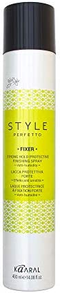 Kaaral Style Perfetto FIXER Professional Strong Hold Protective Anti-Humidity Finishing Spray - 400 ml