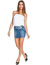 Stylish Elegant Tiered Frill Skirt Flippy Style Elastic Waist Size 8-14 Fa401 Röcke