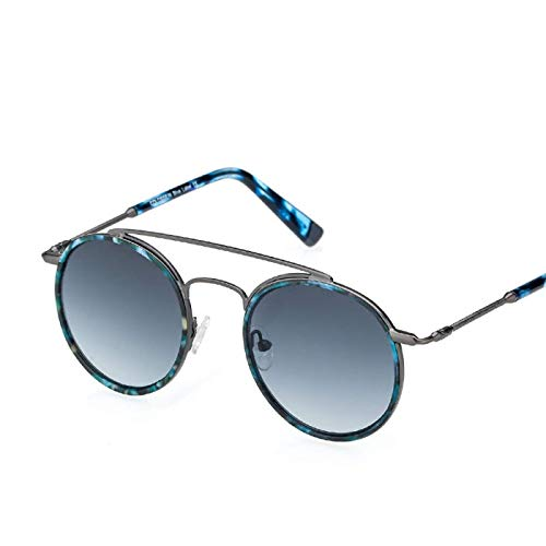 Sport-Sonnenbrillen, Vintage Sonnenbrillen, Sunglasses Women Men Retro Fashion Round Glasses UV400 Metal Acetate Frame Eyewear Lentes Gafas De Sol Mujer