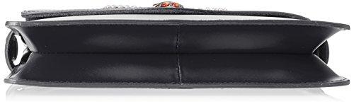 Chicca Borse Damen 8801 Schultertasche, 28x19x5 cm Nero (Nero)