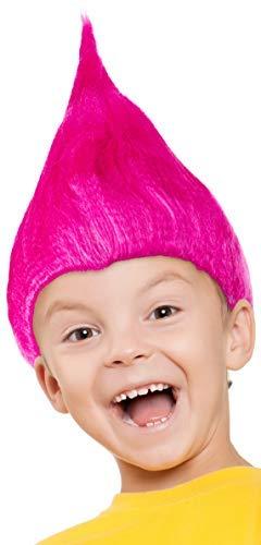 ke für Kinder Mädchen & Jungen in pink, türkis und grün als Ergänzung für das Trolls Kostüm an Fasching und Karneval (Pink) ()