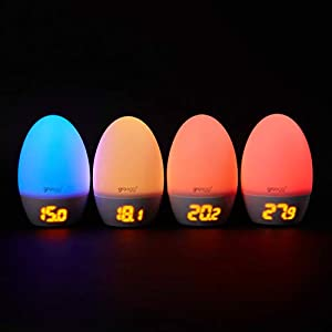 The Gro Company Groegg2 Colour Changing Room Thermometer, UK adapter