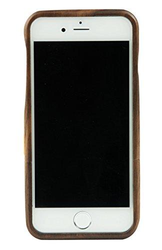 SunSmart iPhone 6 Plus 5.5'' Case Manuel Bois Protective Hard Back Case Cover pour Apple iPhone 6 plus 5.5'' ?palissandre? noyer noir