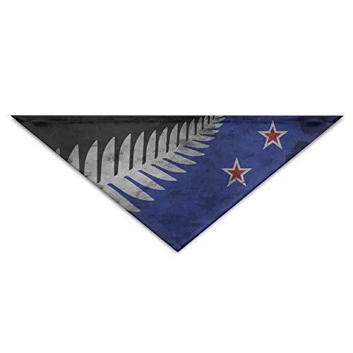 Hectwya Pet Bandanas Silberfarn-Flagge von Neuseeland-Hundebandanas-Schals-Dreieck-Lätzchen-Schals modische grundlegende Halstuch-Katzen-Halsbänder (Women's Eagles Kostüm)