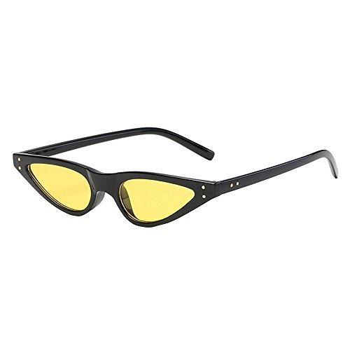 iCerber sonnenbrillen Elegant Niedlichen Charmant Mode Vintage Retro Unisex UV400 Brille für Fahrer Sonnenbrillen fahren UV 400 ❀❀2019 Neu❀❀(Gelb)