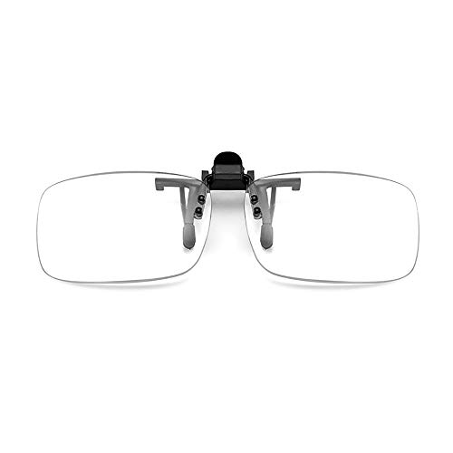 HHCC Transparente Brillenglas-Lesebrille & Clip-On-Brille Kann tragbare Lesebrille +1,00 bis +3,50 Dioptrien für das Outdoor-Fahren Angeln,2packs,+1.50