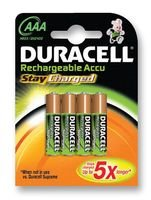 Duracell, AAA Piles StayCharged Lot, NiMH, 800 mAh - Lot de 4