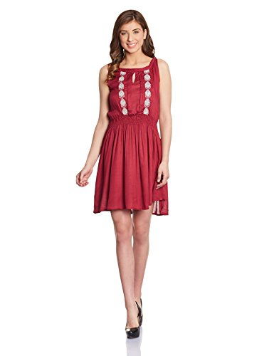 Shakumbhari Women's Cotton Pleated Dress (FW-18M-XL_Red)  available at amazon for Rs.518