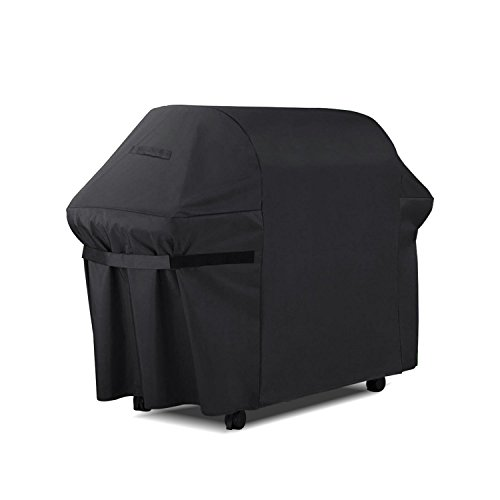 Barbecue Cover, Heavy Duty Waterproof Gas BBQ Grill Cover - 210D Oxford Fabric, Indoor Outdoor Rain Dust Protection with Velcro Straps and Storage Bag