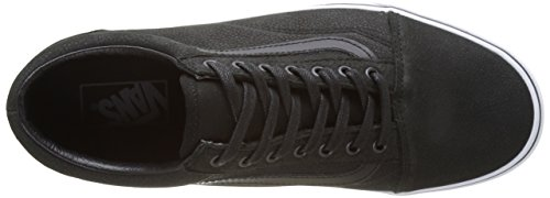Vans Old Skool, Sneakers Basses Mixte Adulte Noir (Premium Leather)