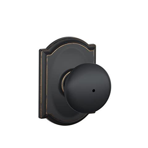 Schlage F40 PLY 716 CAM Camelot Collection Plymouth Privacy Knob, Aged Bronze by Schlage Lock