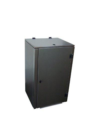 Mülltonnenbox Edelstahl, Modell Eleganza G, 120 Liter, in Anthrazitgrau RAL 7016 (Pulverbeschichtet) - 3
