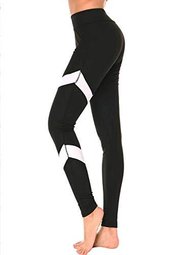 a4d7cb5b2899f FITTOO Mallas Pantalones Deportivos Leggings Mujer Yoga de Alta Cintura  Elásticos y Transpirables para Yoga Running