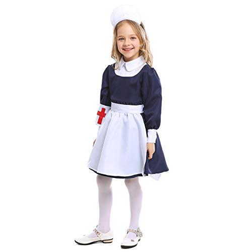 Kostüm Girl Little Cute - KIYOUMI Kinder Halloween Cosplay Maid Kostüm Anzug Cute Little Girl Krankenschwester Kleidung,S