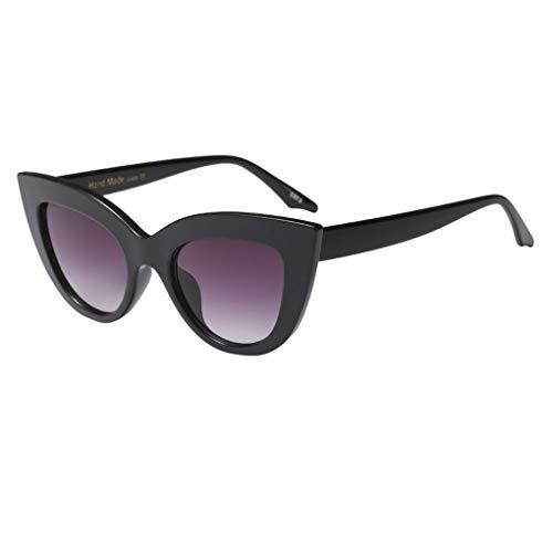 Dorical Unisex Sonnenbrille/Damen Herren Mode Rahmenellipse klassische Aviator Vintage Brille PC gestell Brillenfassung Hochwertige UV400 Sport Glasses Valentinstag Brille für Männer Frauen