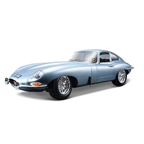 PENGJIE-Model Jaguar Car Model 1:18 Simulation Alloy Jaguare Classic Car Modello di Auto Originale (Colore : Silver Blue 048)