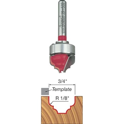 Freud 39-532 3/4-Inch Diameter Top Bearing Cove and Bead Groove Router Bit with 1/4-Inch Shank by Freud