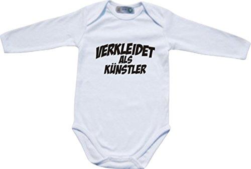 Babybody Karneval verkleidet als Künstler, Kostüme verkleiden, Farbe weiss, Größe 74-80 (80 Künstler Kostüme)