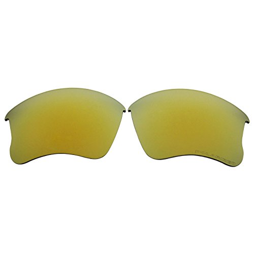 COODY Ersatz Polarisierte Gläser für Oakley Flak Jacket XLJ Sonnenbrille (Nicht Fit Flak Jacket, Flak 2.0), Unisex, Goldfarben verspiegelt