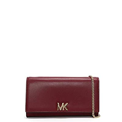 Michael Kors Large Mott Maroon Leather Clutch Bag
