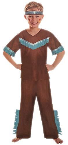 Brandsseller Jungen Kostüm Verkleidung Fasching Karneval Party - Indianer S (4-6 Jahren) (Party Für Halloween-kostüme Jungs)