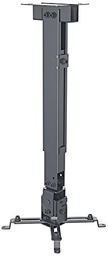 Manhattan 461207 Universal Decken- und Wandhalterung für Beamer und Projektoren ( Traglast bis zu 20 kg schwenkbar und höhenverstellbar ) schwarz (Tv Wandhalterung Videosecu)