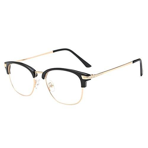 Preisvergleich Produktbild Zhuhaixmy Near Sighted Hälfte Felge Anti-Strahlung Short Entfernung Brille Kurzsichtigkeit Myopia Brillen -1.0 to -6.0 (Diese sind nicht Lesen Brille)