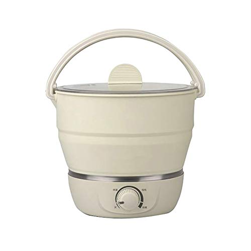 LbojailiAi Thermal Cooker Multifunctional Home Travel Portable Foldable Electric Cookware Beige