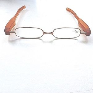 Reading Glasses Saddle Brown Big Panini Pod Folding Readers-Strength +3.00