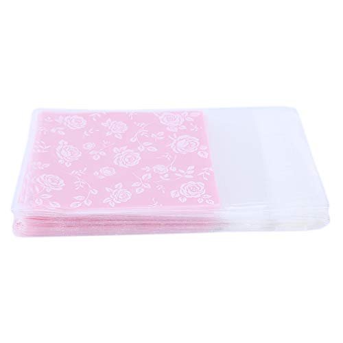 LnLyin Rose Candy Bags Selbstklebende Plätzchenbeutel Party Sweetie Bags Backpaket Lebensmittel Tasche