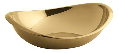 Rosenthal Sambonet 55690N26 Twist Edelst./PVD Cognac Schüssel oval 26 cm (1 Stück) Sambonet Twist
