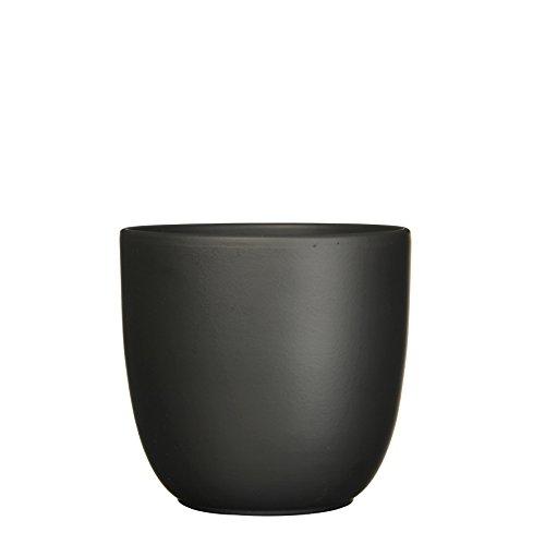 Mica Decorations 144280 Tusca Pot Ronde Noir Mat - H25xd28cm