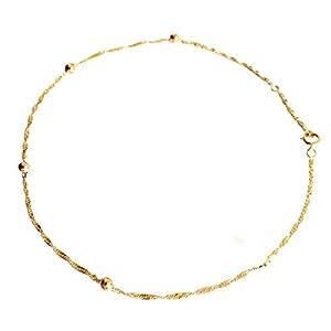 Diamantly-Fußkettchen Mesh Singapur Gold 750–25cm