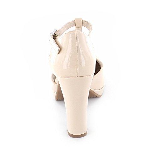 Tamaris Plateau alto tallone Riemchenpumps rosa Glamour 1-24409-26 579 Rose Struttura Cream Patent