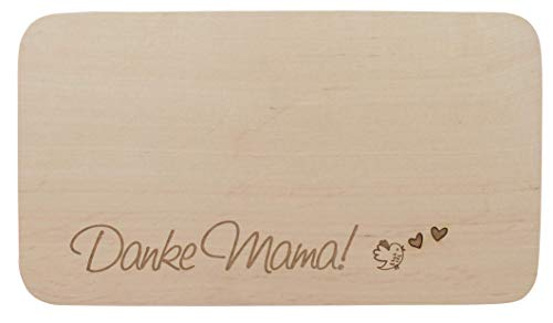 Meinbecher tazza da colazione, tagliere in legno di ontano con incisione – danke mama! - regalo festa della mamma tagliere idea regalo mutti