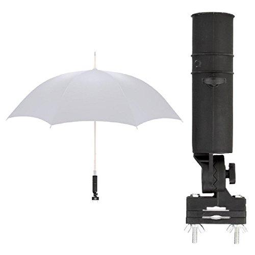 LL-Golf Universal Schirmhalter für Rollstuhl/Rollator/Kinderwagen/Halter/Sonnenschirmhalter/Regenschirmhalter/Umbrella Holder