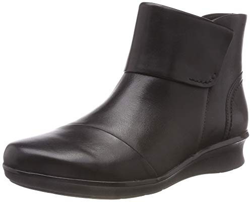 Clarks Hope Track, Botines para Mujer, Negro (Black Leather), 41 EU