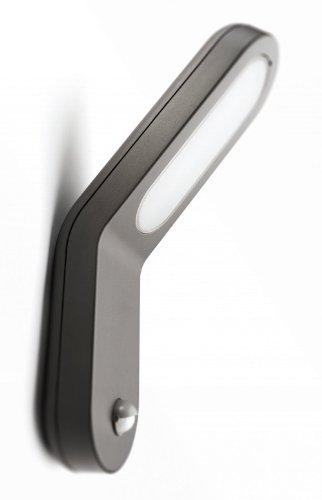 Philips Ecomoods IR-Energiespar-Wandaussenleuchte Vorschaltgerät in der Leuchte integriert, Bewegungsmelder Typ J (Erfassungswinkel 140°, Reichweite 6 m) 169099316 (Wand-vorschaltgerät)